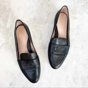 Taryn Rose Blossom Black Leather Comfort Loafers